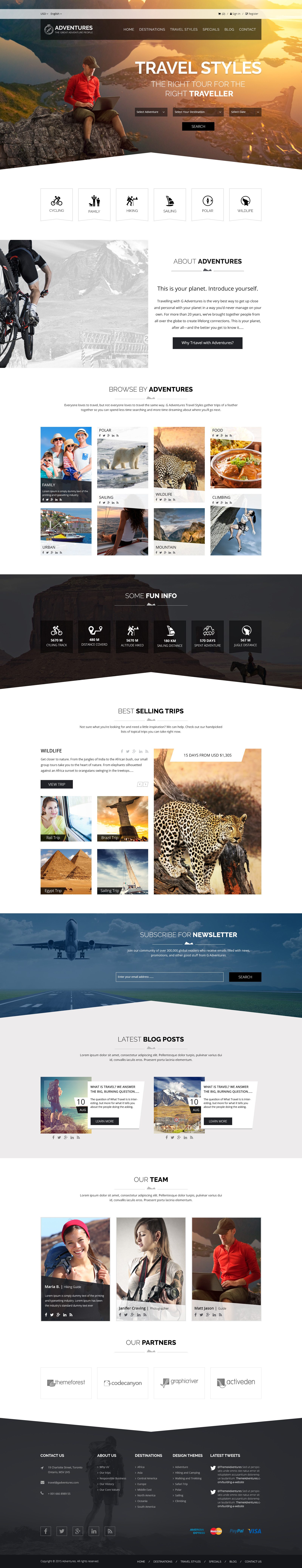 Adventures and Tour PSD Template example image 2