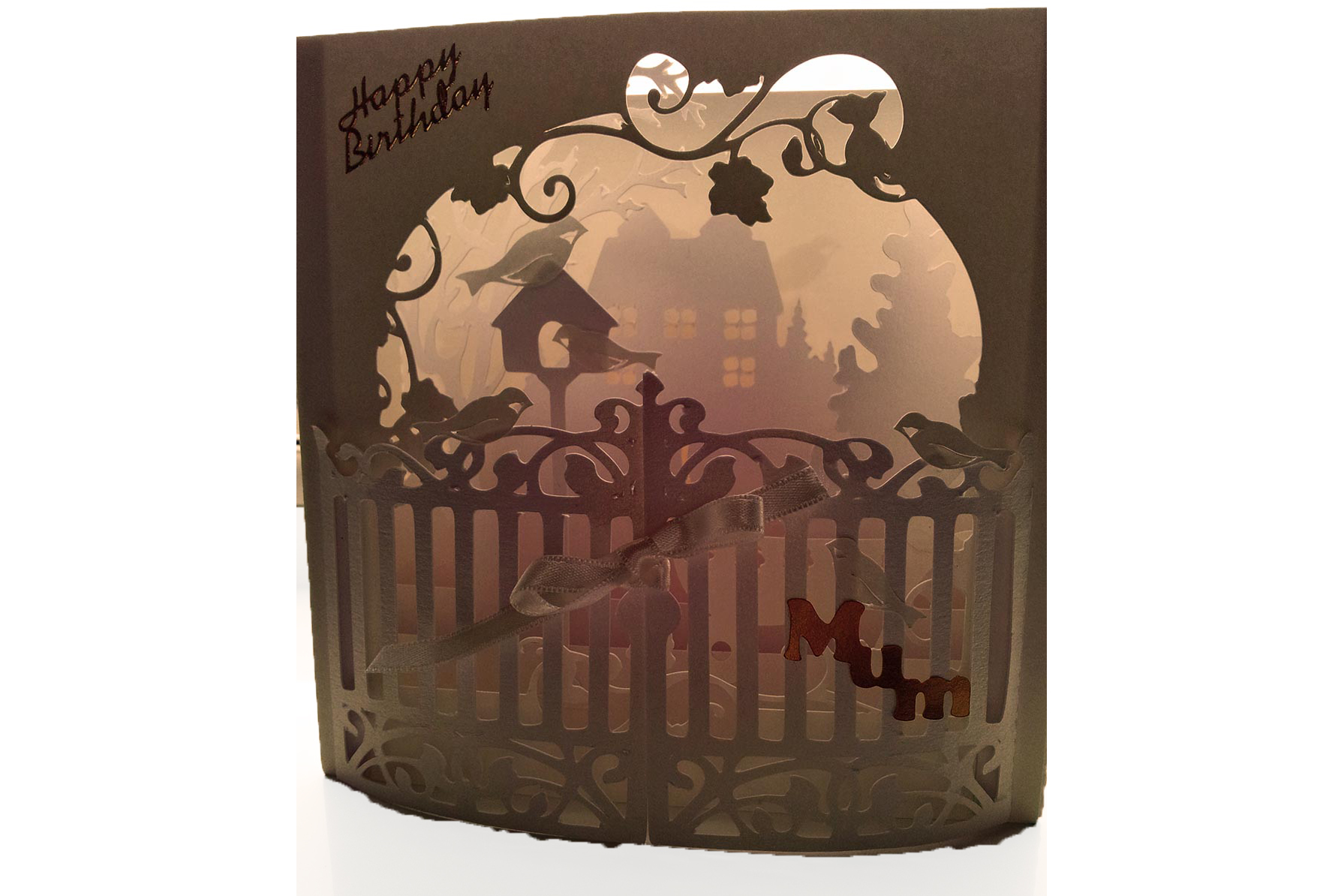Secret Garden shadow box style Greetings card example image 3