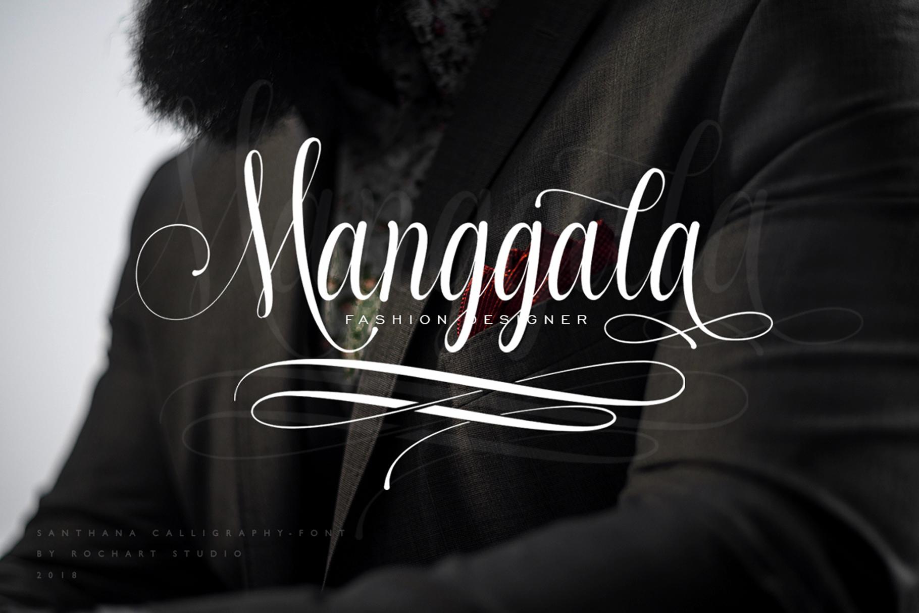 Santhana Calligraphy example image 5