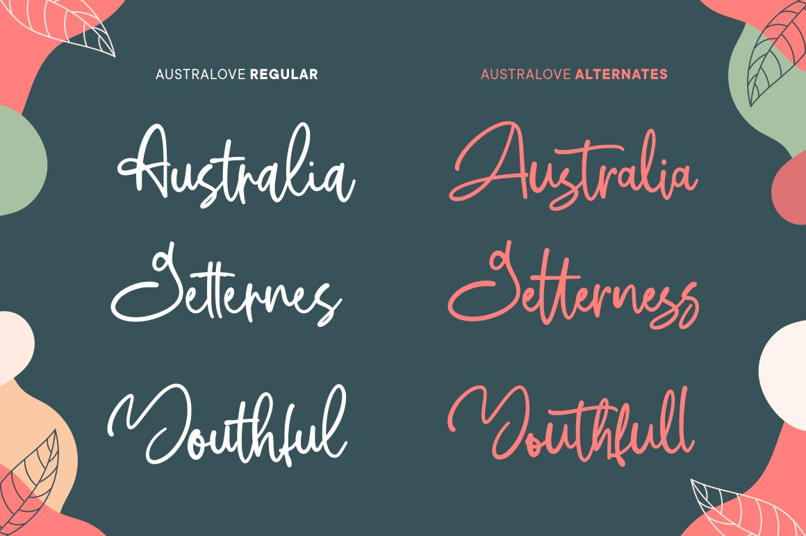 Australove - Modern Handwritten example image 9