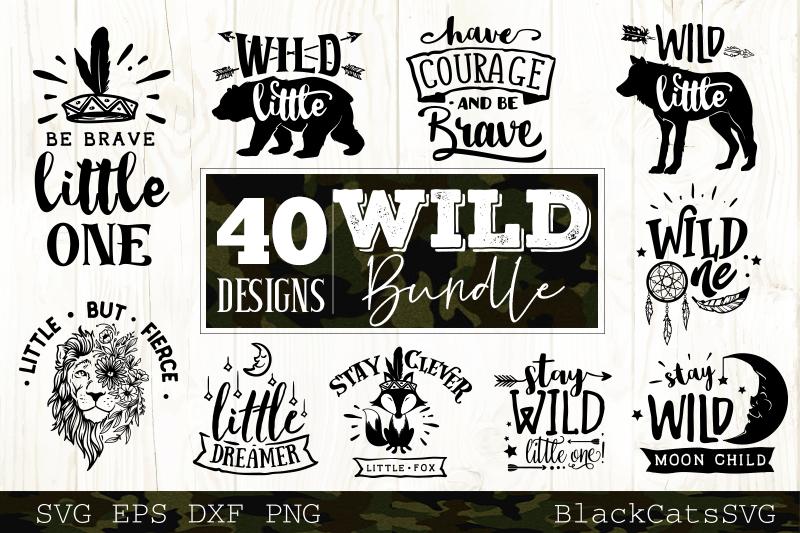 Wild and Boho SVG bundle 40 designs Wild SVG bundle example image 4