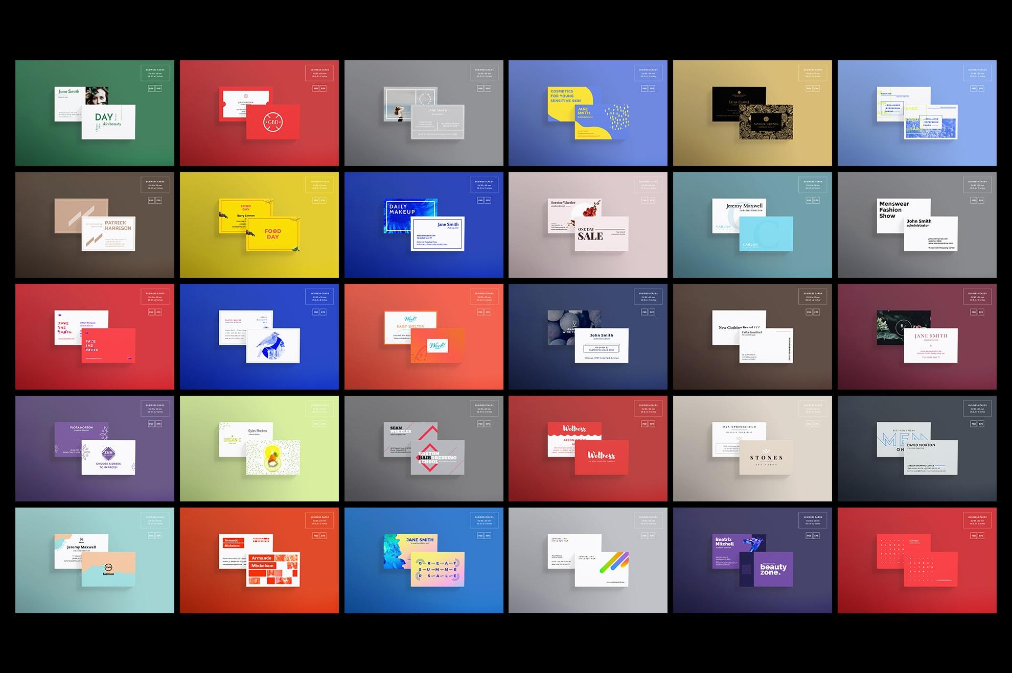 Business Card Design Templates Bundle SALE example image 5