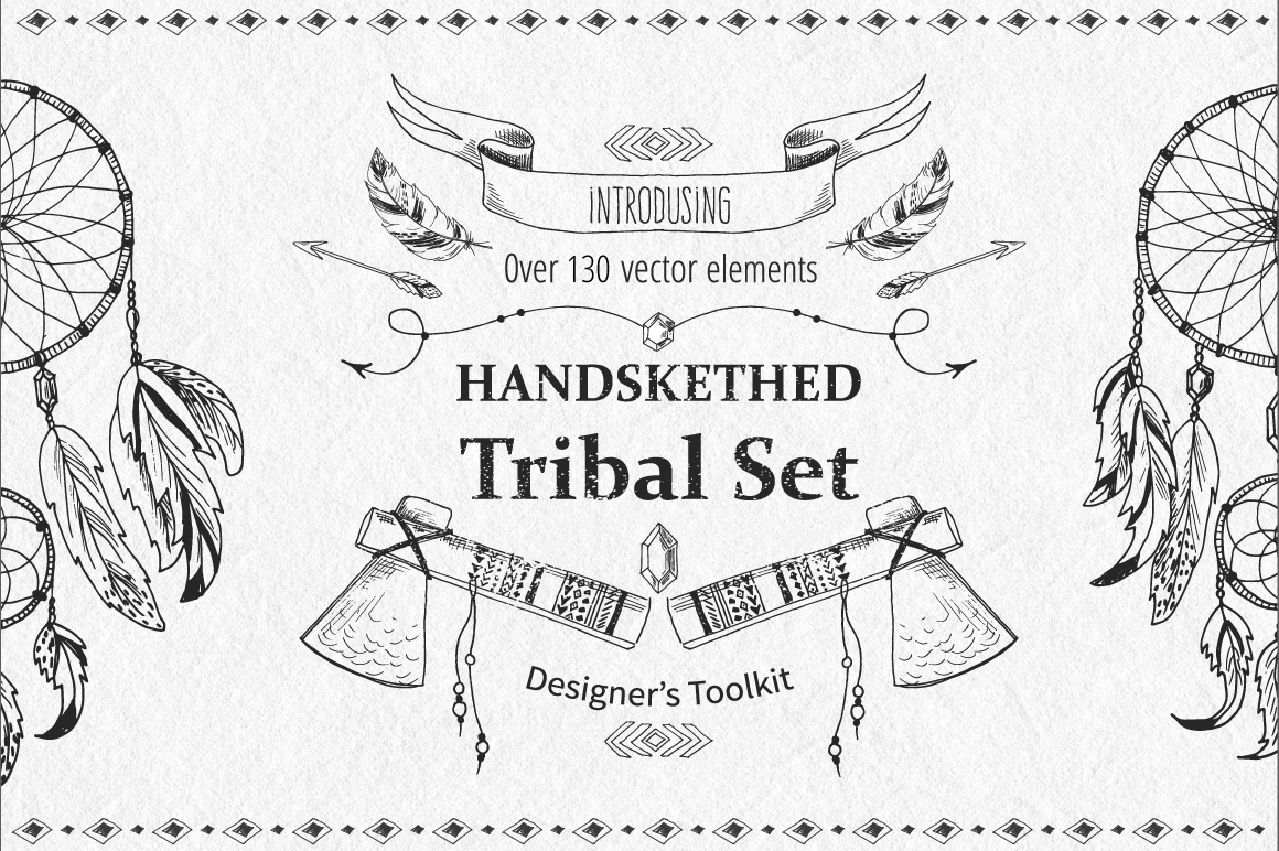 Tribal Design Vector Set Vol.2 example image 1