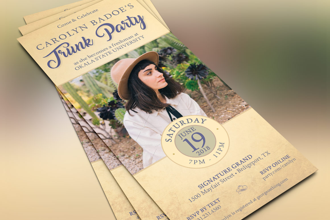 Retro Trunk Party Flyer Template example image 2