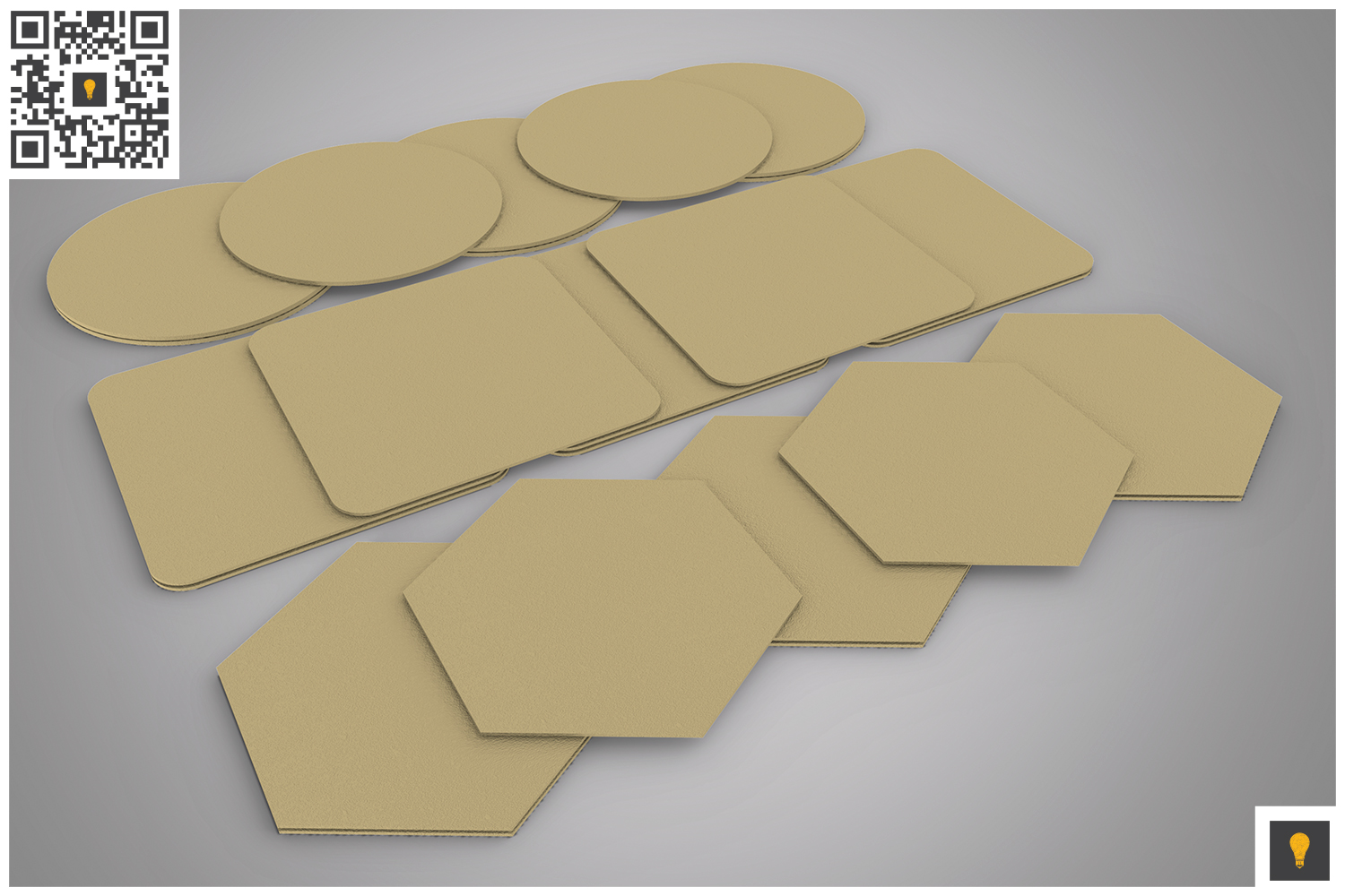 Paper Coaster 3D Render example image 2