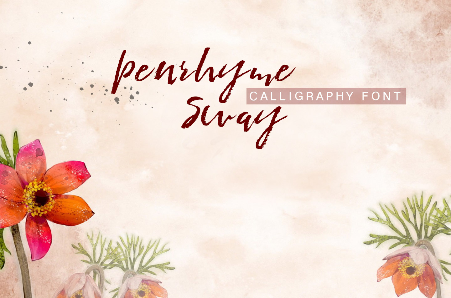 Penrhyme Calligraphy Font example image 5