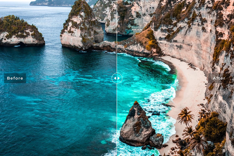 Ocean Blue Mobile & Desktop Lightroom Presets example image 4