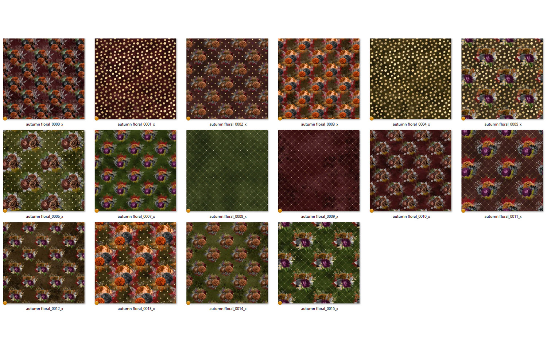 Autumn Floral Digital Paper example image 3