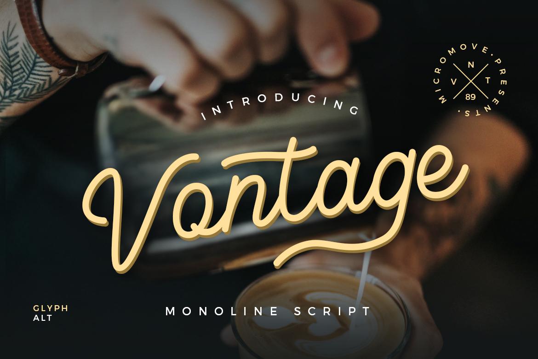 Vontage - Monoline Script example image 1