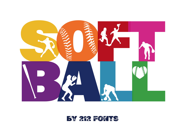 212 Softball Caps Display Font Softball Player Alphabet OTF example image 2