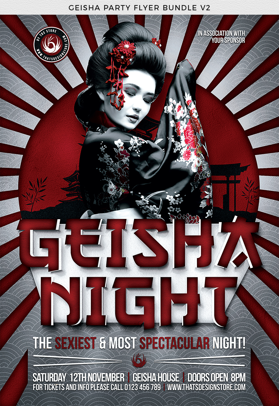Geisha Party Flyer Bundle V2 example image 10