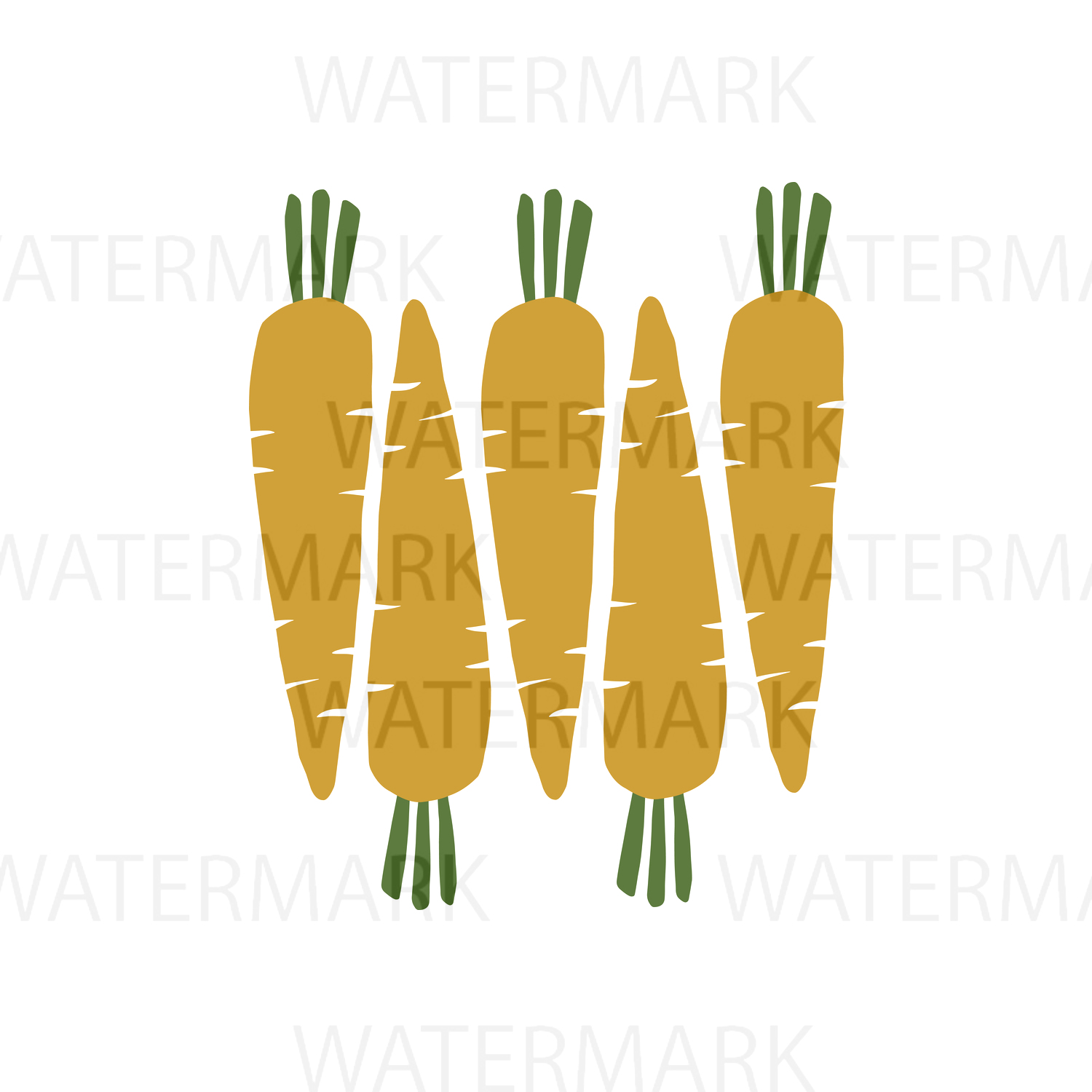 Cute Carrots - SVG/JPG/PNG - Hand Drawing example image 1