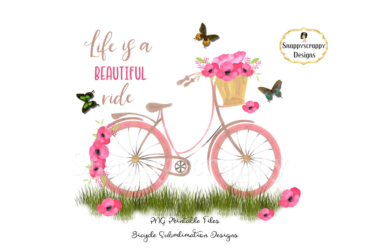 Summer Bicycle Sublimations example image 2