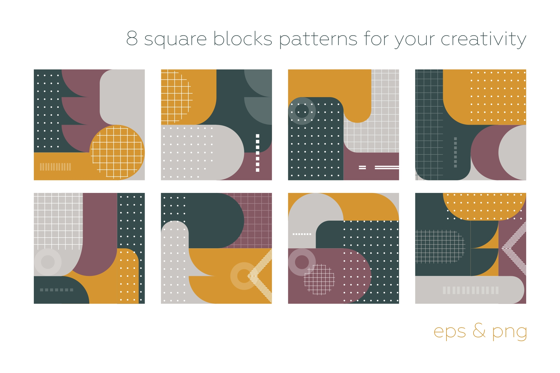 Old school geometry pattern collection example image 7