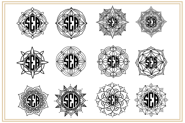 Mandala Monogram. EPS, PNG, SVG example image 4