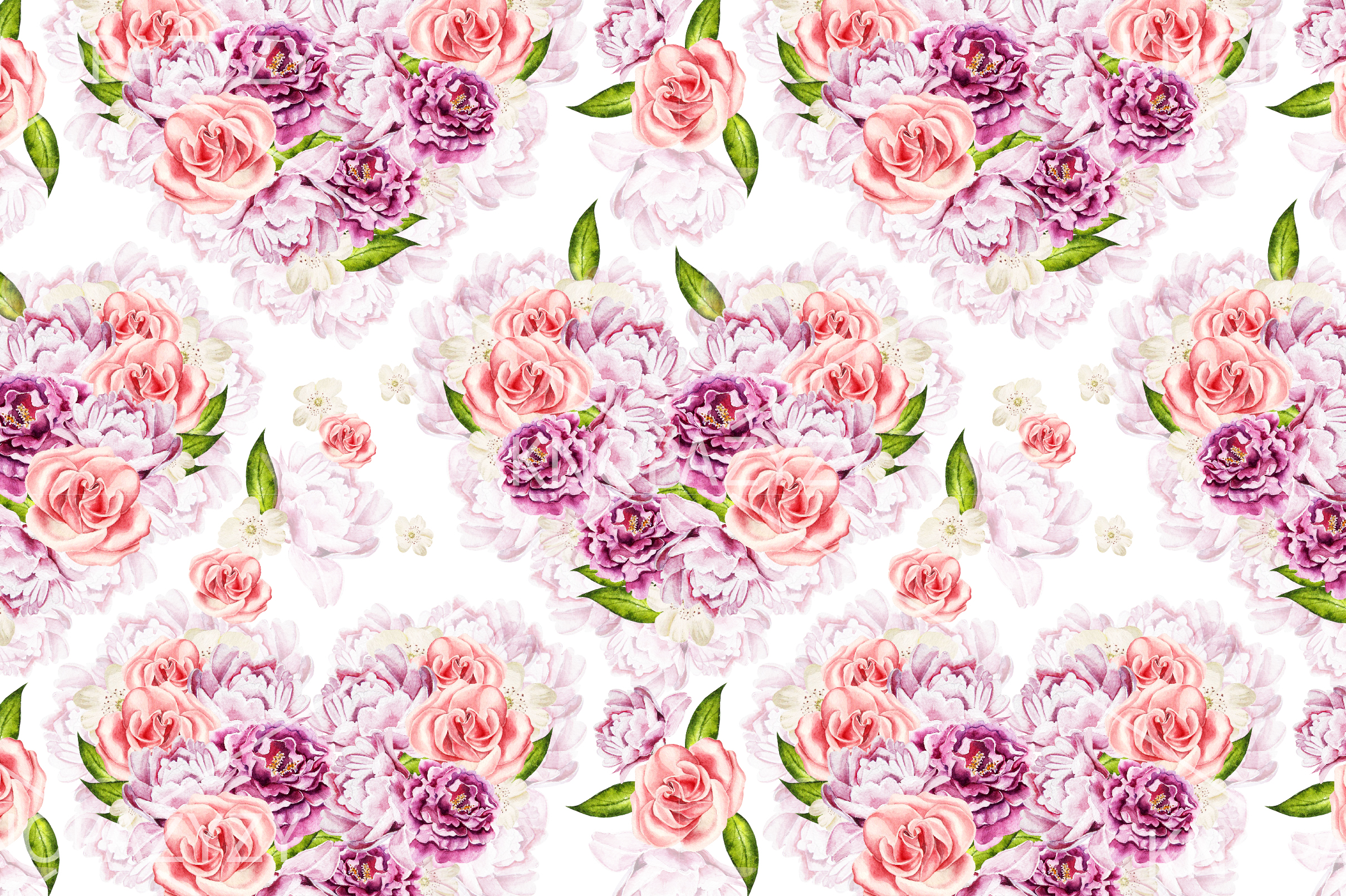15 Hand Drawn Watercolor PATTERNS example image 13