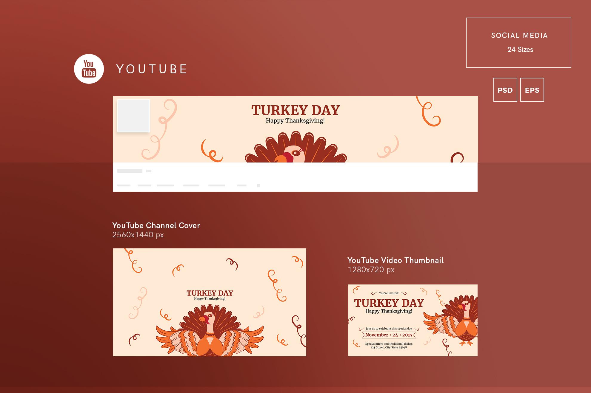 Thanksgiving Celebration Design Templates Bundle example image 7
