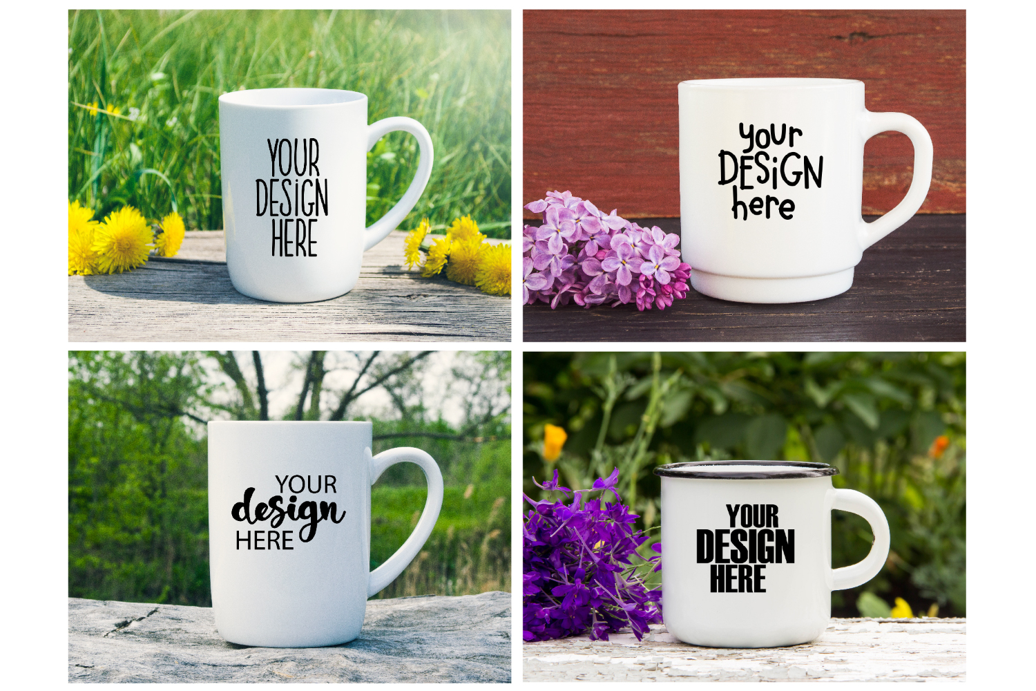 Mug mockup bundle 4, coffee cup, stock photo bundle example image 3