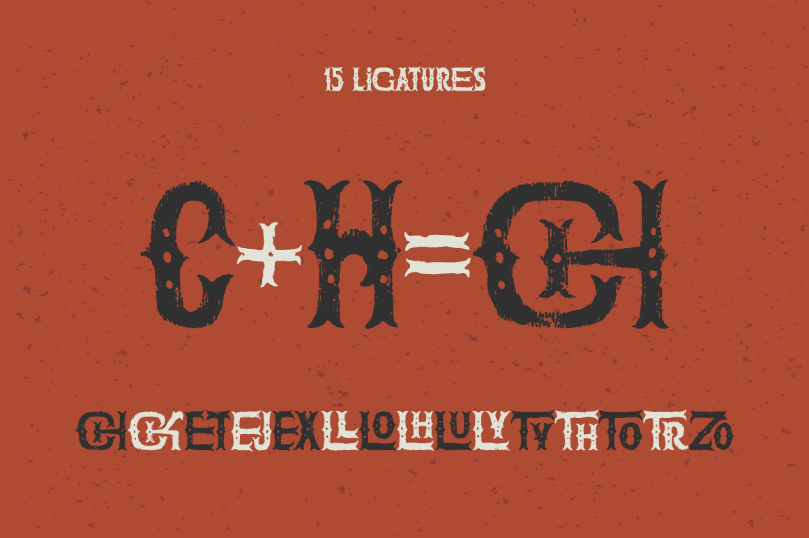 The Freaky Circus font example image 3