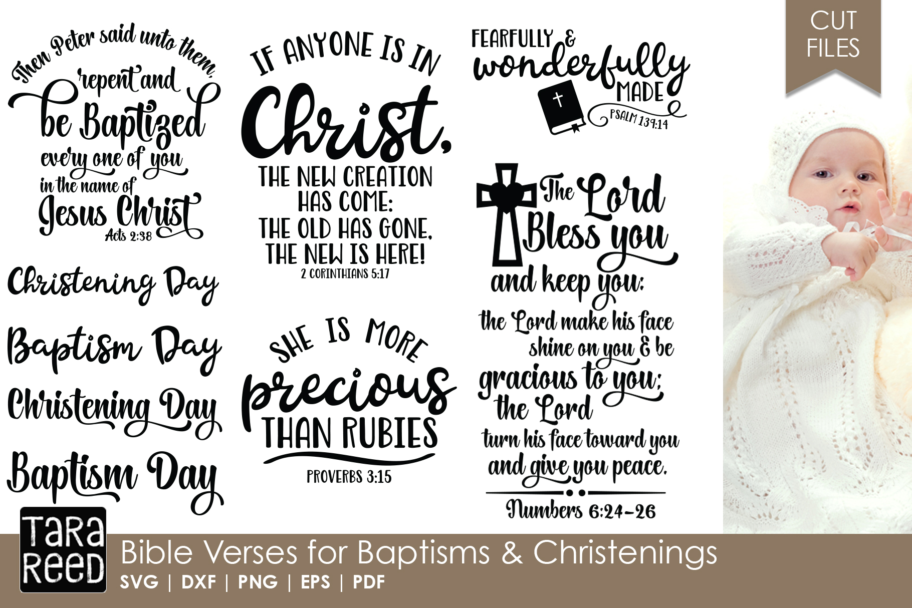 Bible Verses For Baptisms And Christenings Bundle