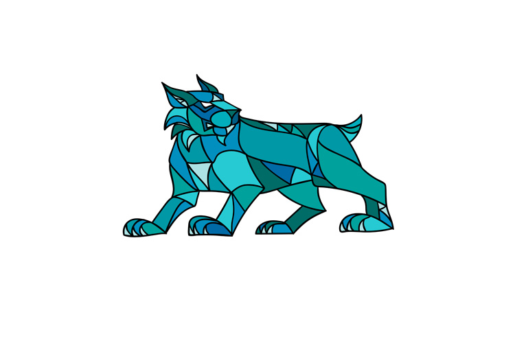 Bobcat Prowling Mosaic example image 1