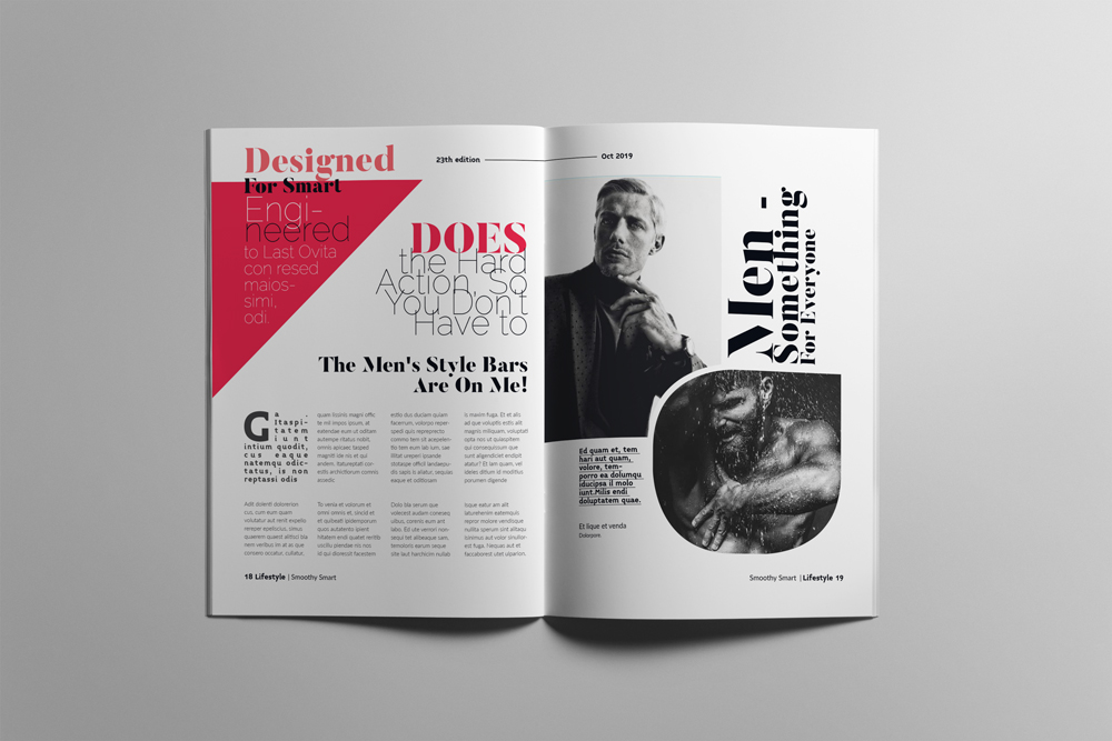 Fashion Magazine Layout Template example image 10