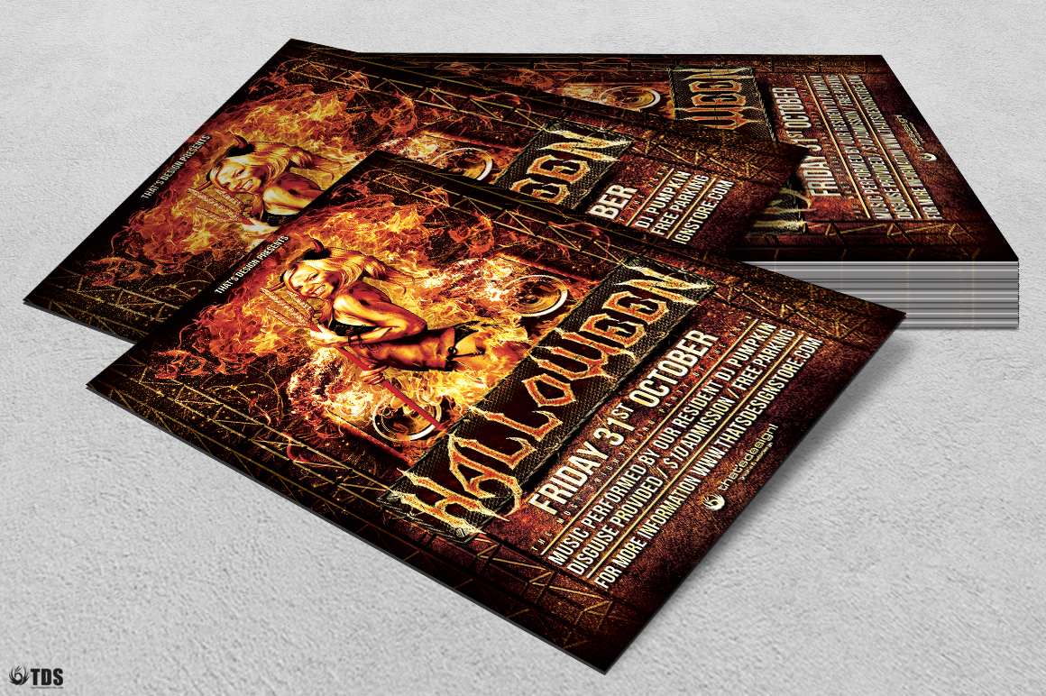 Halloween Flyer Template V3 example image 4