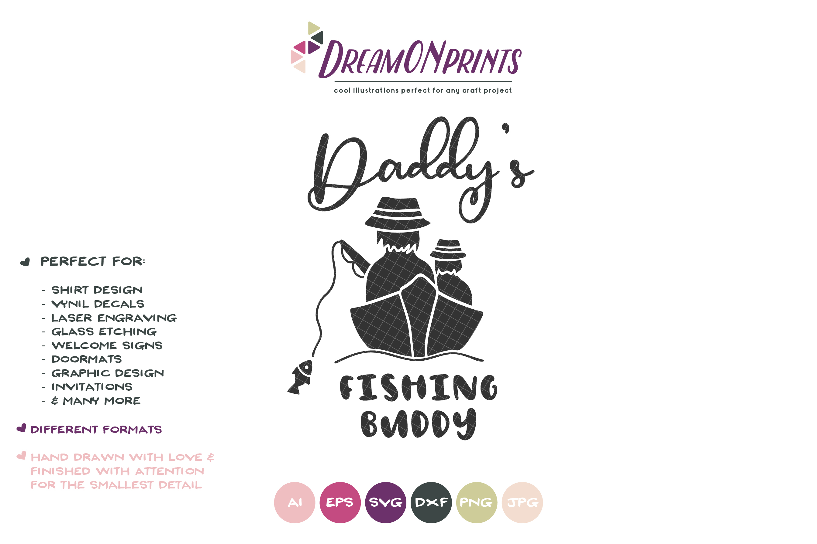 Daddy's Fishing Buddy SVG - Fishing SVG example image 2