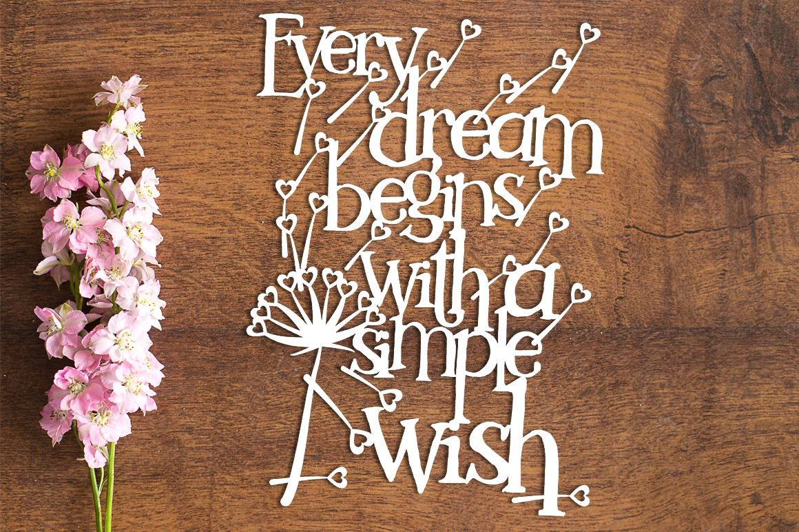 Every Dream - Paper Cutting Template example image 1