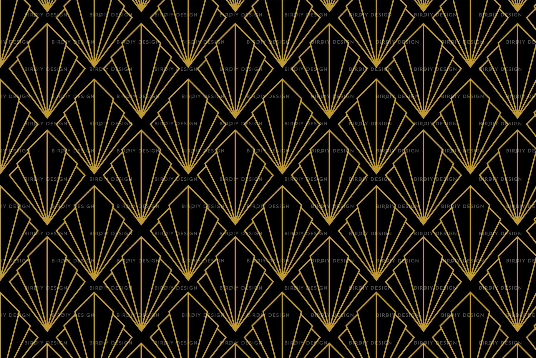 Art Deco Graphics & Patterns set
