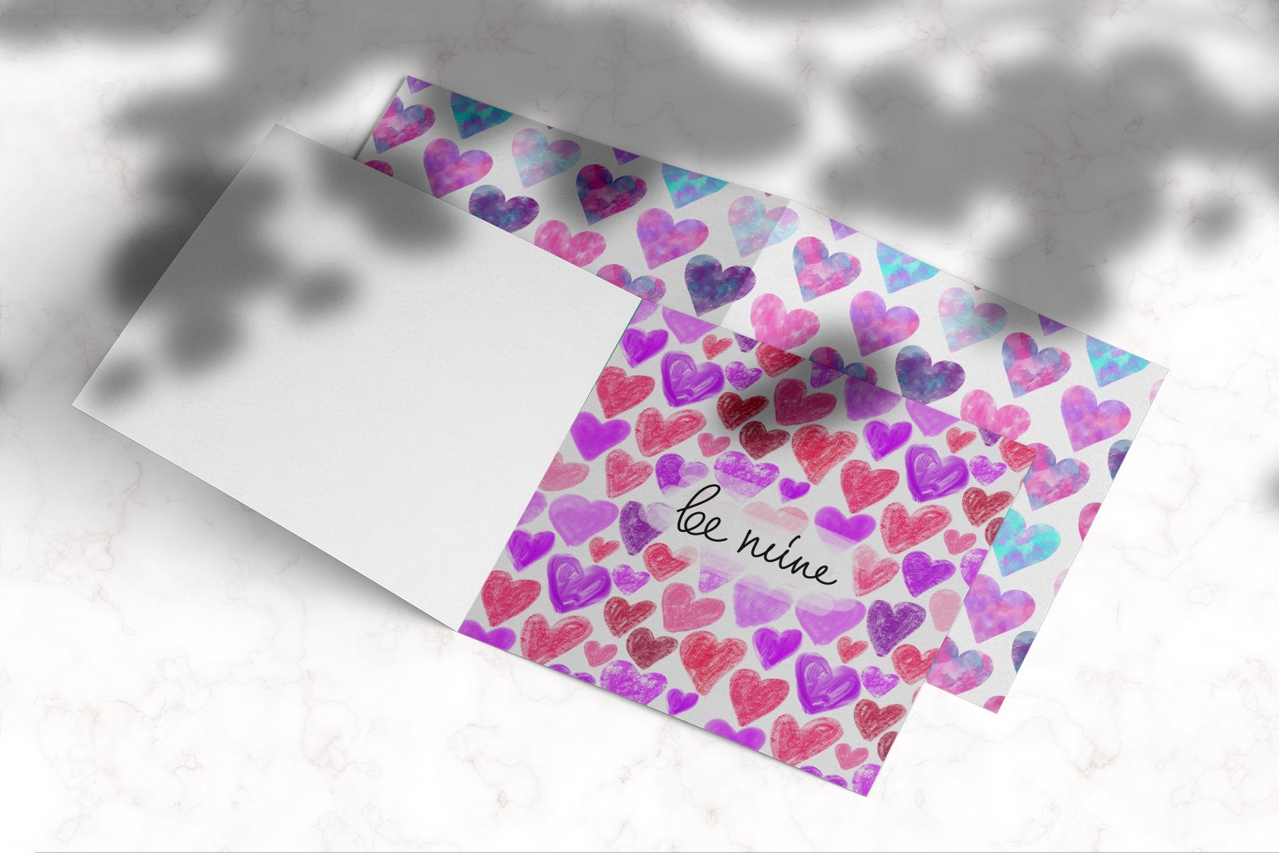 Stylish Hearts. 12 patterns example image 7