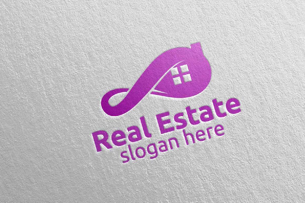 Real Estate Infinity Logo Design 36 example image 3