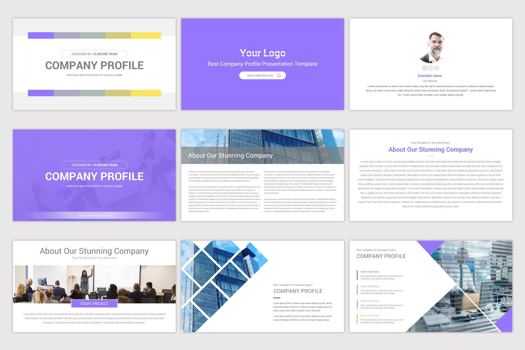 Company Profile Keynote Template example image 4