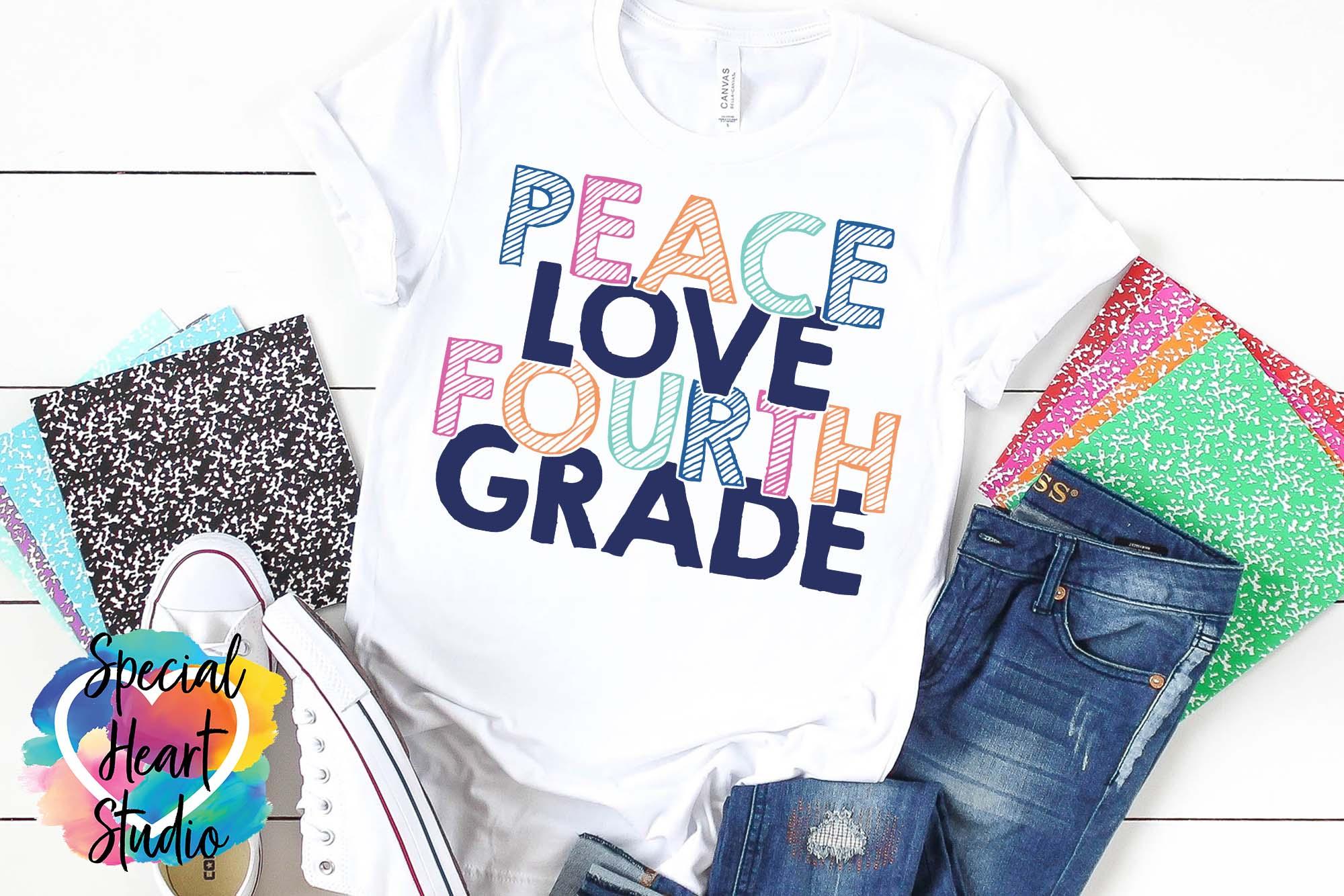 Peace Love Elementary - A School or Teacher SVG Bundle example image 6