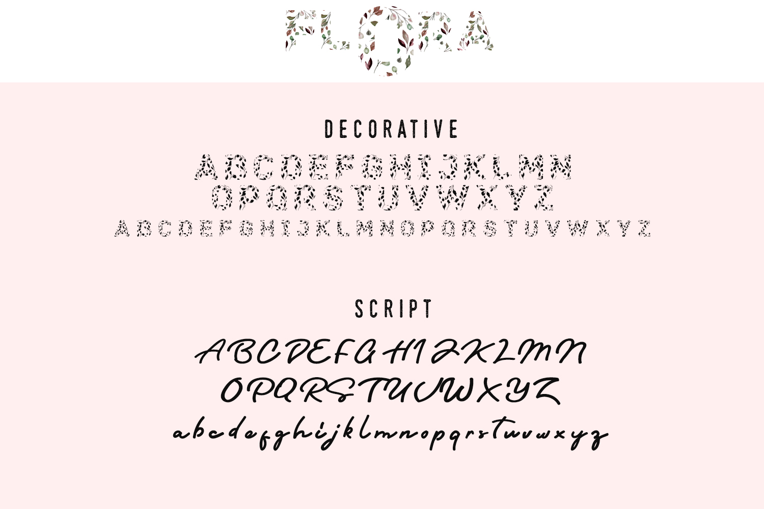 Flora Font Duo example image 5