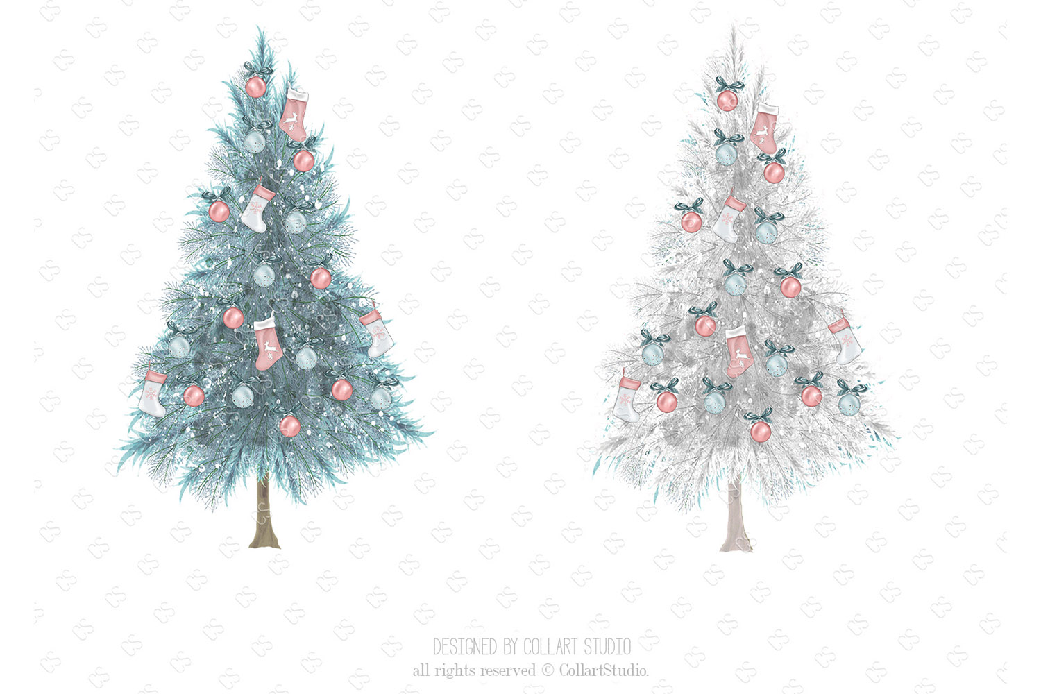 Christmas home decoration clipart, Fashion Christmas Planner example image 2