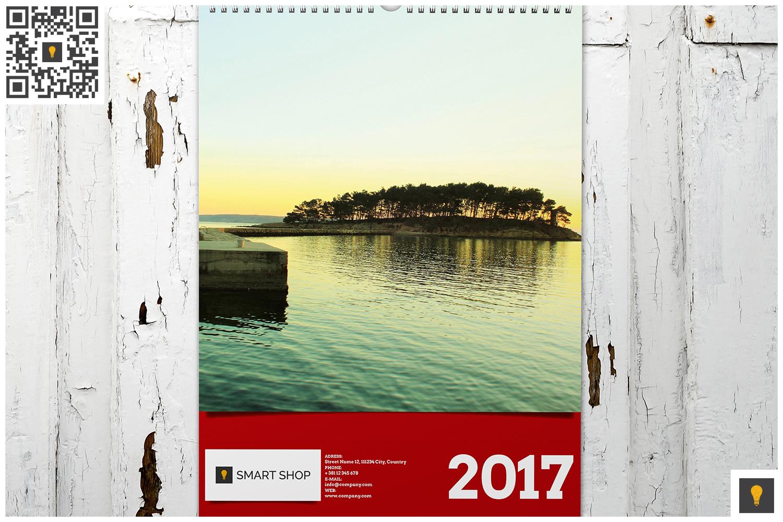 2017 Wall Calendar example image 4