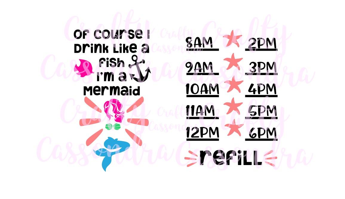 of course I drink like a fish Im a mermaid example image 2