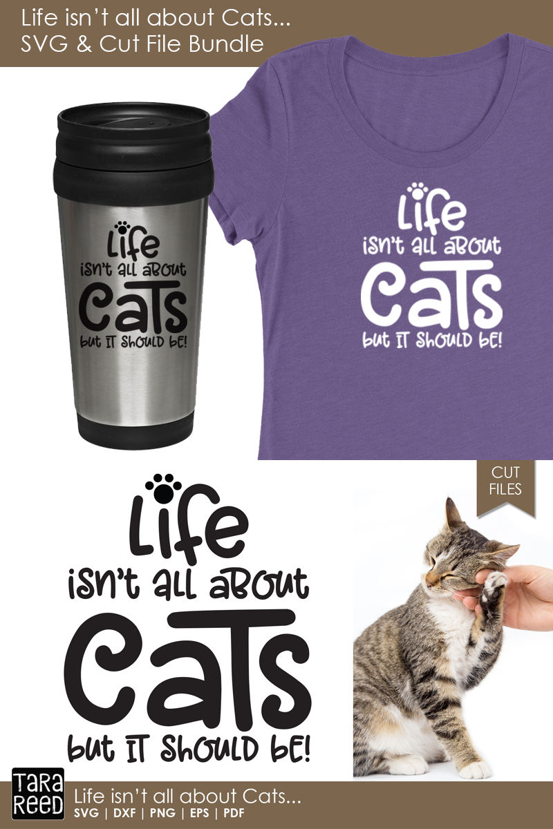 Life isn't all about Cats - Cat SVG and Cut Files example image 3