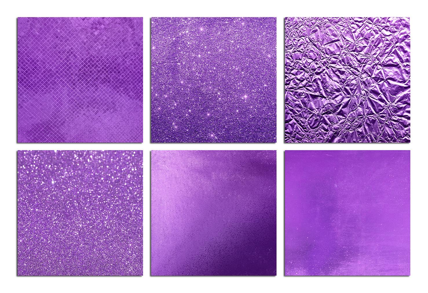 Purple Foil & Glitter Textures example image 2