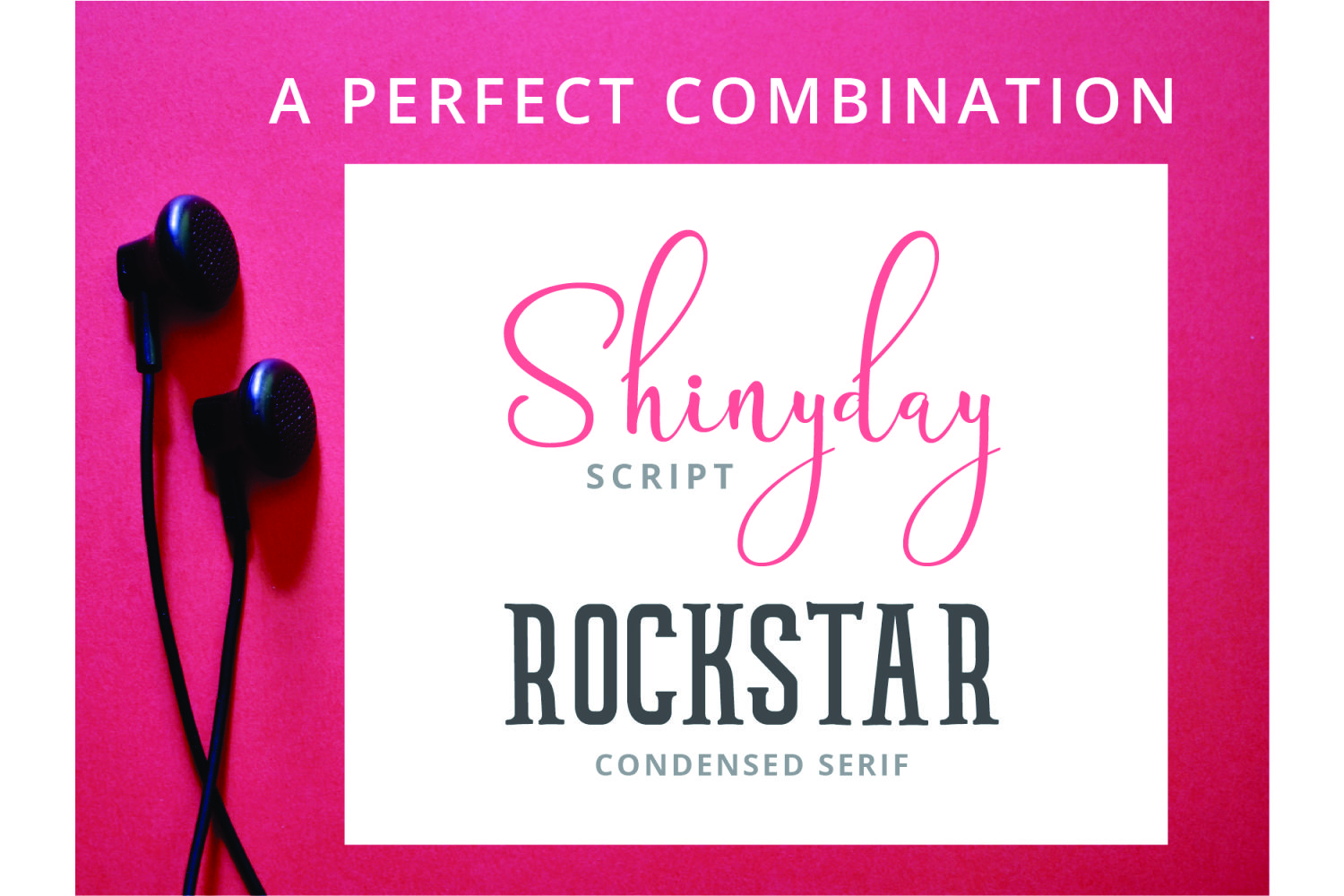 Shinyday & ROCKSTAR font duo example image 5