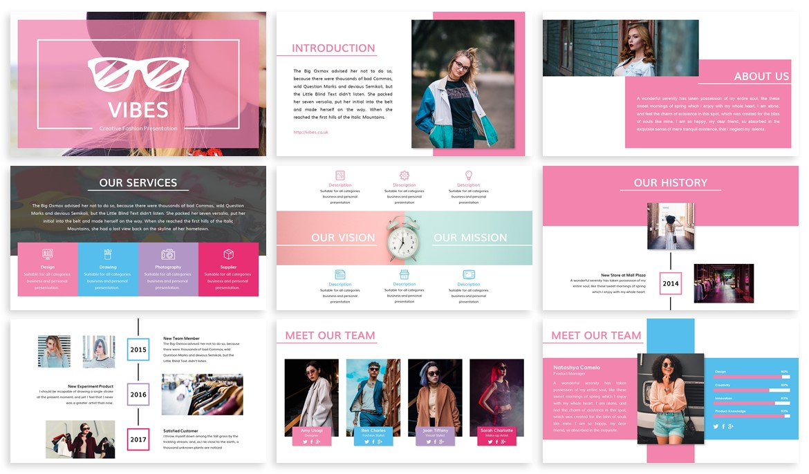 Vibes - Creative Fashion Powerpoint Template