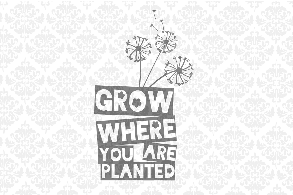 Grow Where You Are Planted Dandelion example image 1