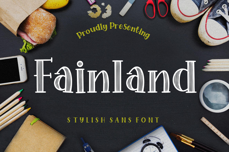 Fainland Stylish Sans example image 1
