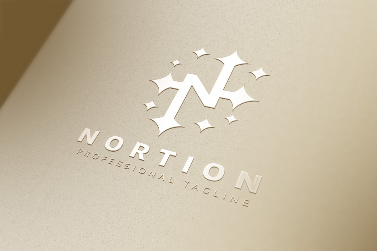 Nortion / N Letter Logo example image 4