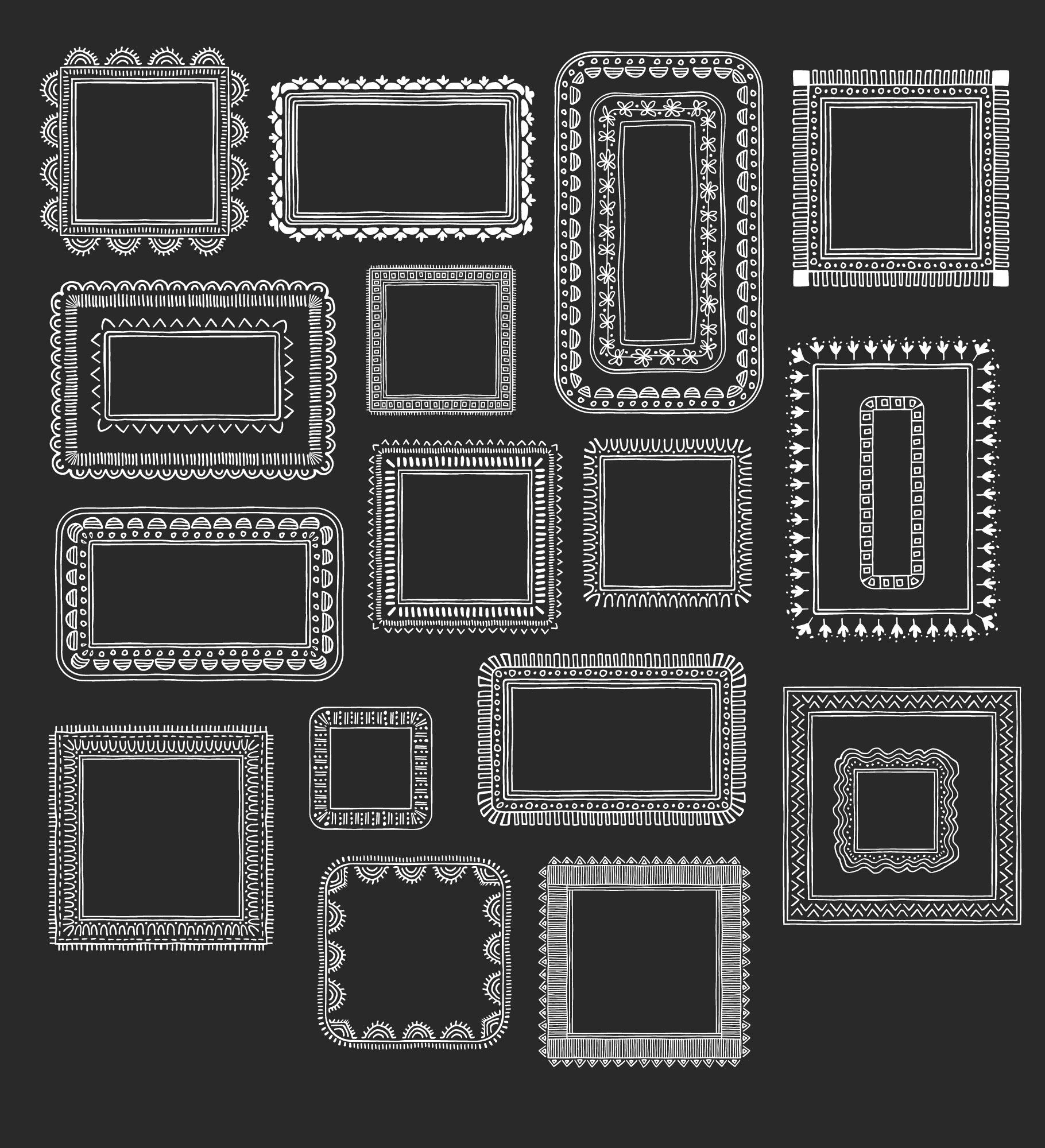 Hand drawn frames & borders example image 2
