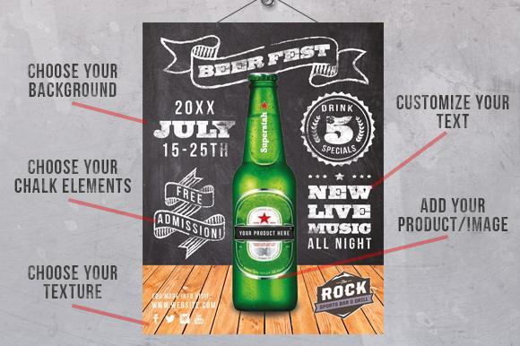 Chalk Poster Ad Creator Kit example image 3