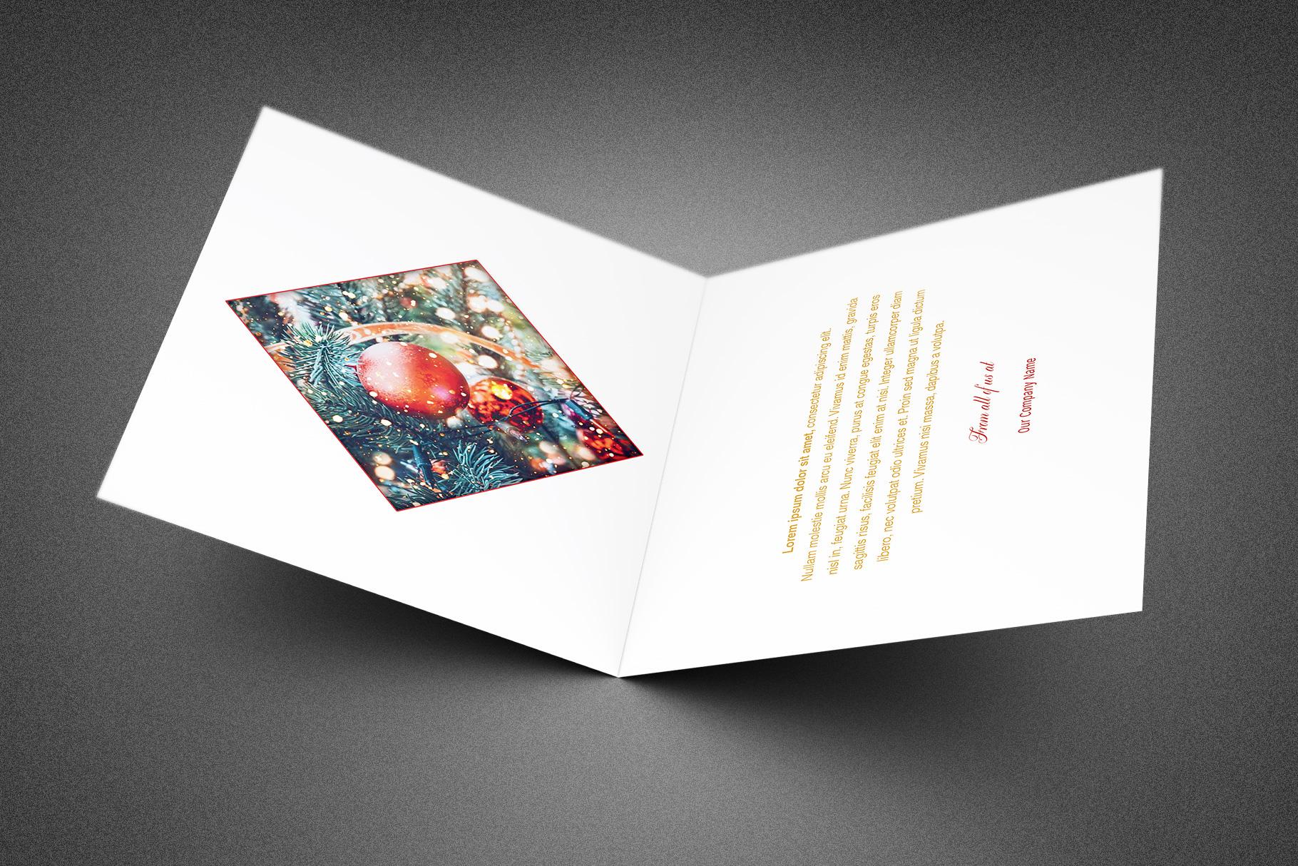 Company Christmas Thank You Card example image 3