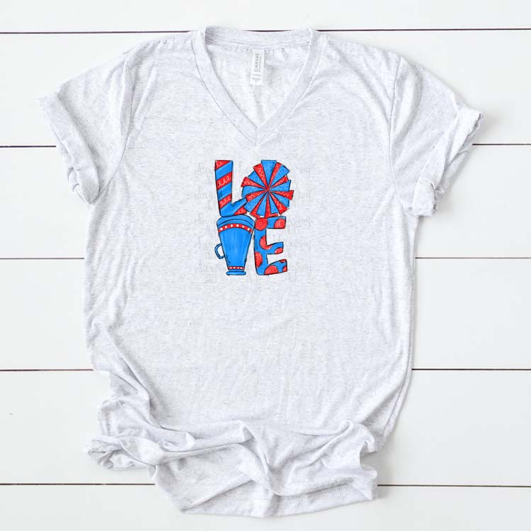 Cheer Love Columbia Blue and Red example image 2