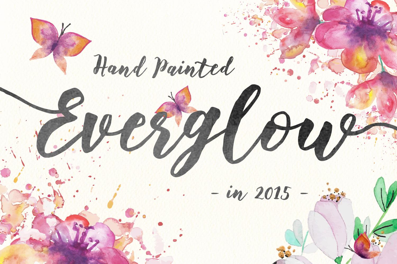 Floweress - Hand Painted Brush Font example image 6